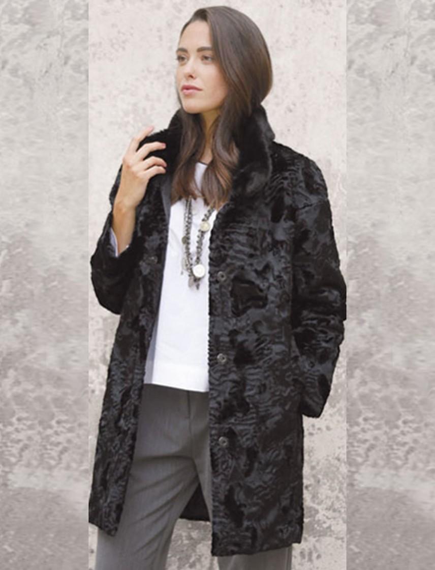 huge discount 5cd96 84f25 Giaccone di pelliccia lavorato e vellutato lungo - ASUP9366607CONDOR